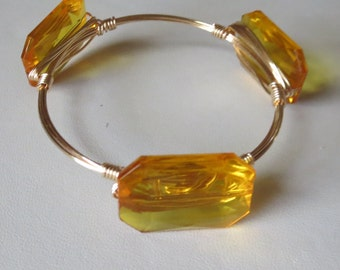 """Gold Bangle Bracelets """"Bourbon and Bowties"""" Inspired"""