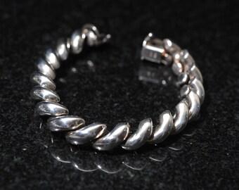 Sterling Silver Twisted Link Bracelet