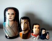 Set of Five Star Wars: The Force Awakens Nesting Dolls
