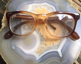 Vintage brown fade ombre gradient glasses frames
