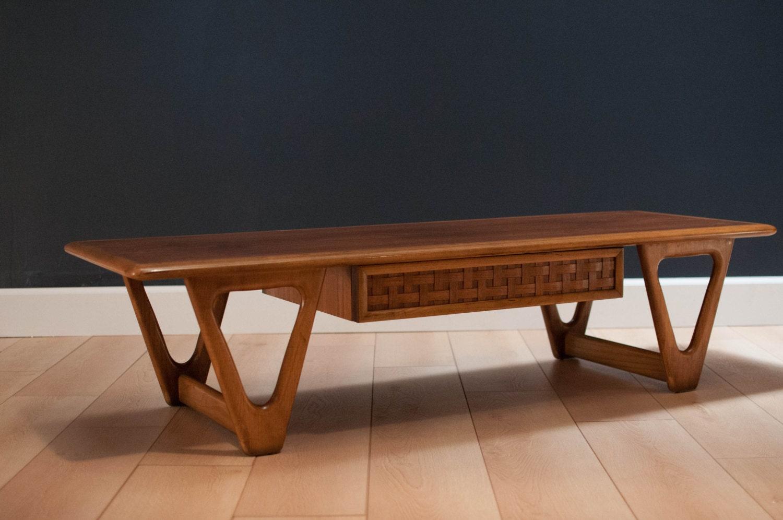 mid century lane perception coffee table by midcenturymaddist. Black Bedroom Furniture Sets. Home Design Ideas