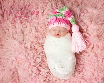 Newborn Elf Hat with Tassel