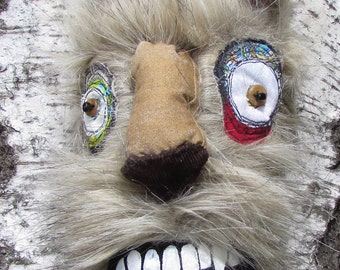 Burt the hipster werewolf OOAK handmade monster doll