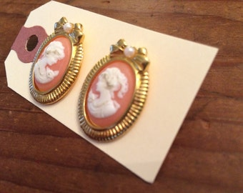 Victorian inspired Cameo stud earrings