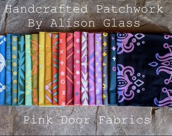 Handcrafted Patchwork - Fat Quarter Bundle - ABHCPW-FQ - Alison Glass for Andover - 18 prints
