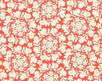 Strawberry Moon - Petite Henna Garden in Coral - Sandi Henderson for Michael Miller - DC7306-CORA-D - 1/2 Yard