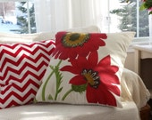 Poppy 20 inch and Red Chevron 18 inch