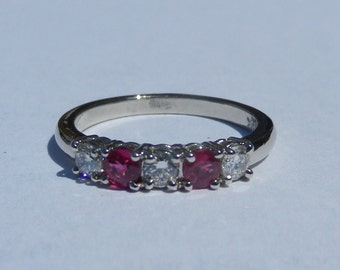 Natural .65 Carat Ruby & Diamond Ring 14KT Gold W/ Appraisal