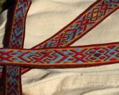 Snartemo Variation Tablet Card Weaving Silk Band Viking Belt Border
