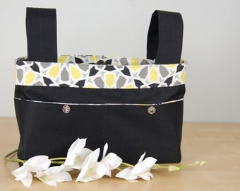 Walker Bag:  Classic Black Bag with a fun star patterned lining.