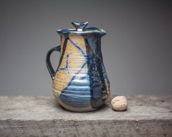 Wood fired  stoneware  pitcher