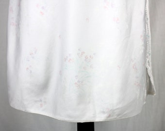 Vintage White Floral Half Slip Size Small