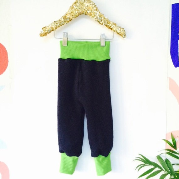 HOP 1-2 Years Kids Wool Cashmere Leggings Longies Double Layer Cloth Diaper Real Nappies Soaker Pants Toddler Trousers Sweat Pants Unisex