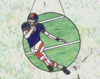 Stained Glass Football Player