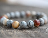 8mm Sky Eye Jasper Bracelet, Gemstone Bracelet, Mens Bracelet, Womens Bead Bracelet, Stacking Healing Stone Yoga Bracelet, Gifts
