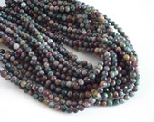 """Multi Colored Agate Beads, Gorgeous Color Combination  - 6mm Round Beads - 15"""" Strand"""