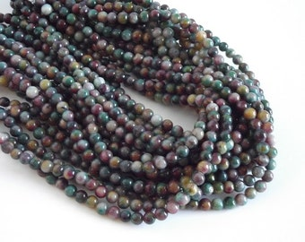 "Multi Colored Agate Beads, Gorgeous Color Combination  - 6mm Round Beads - 15"" Strand"