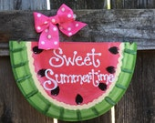 PINK WATERMELON SIGN Sweet Summertime country wood crafts decor