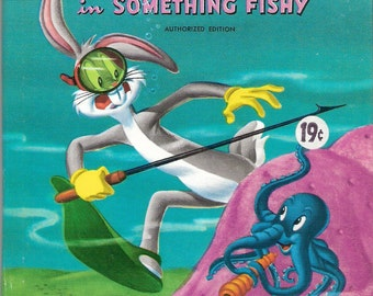 Bugs Bunny in Something Fishy Vintage Whitman Tell a Tale Book Adapted by Alfred Abranz and Norm McGary Illustrated by Warner Bros. Cartoons