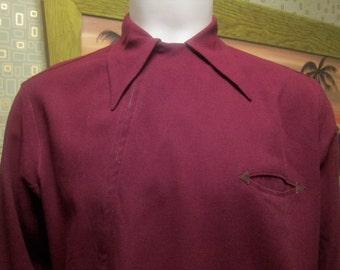 1940s Vintage Men's Western Style Marlboro La Playa Sportswear Jacket  - Large