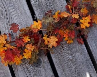 Autumn Wedding Decor, Fall Garland, 6Ft