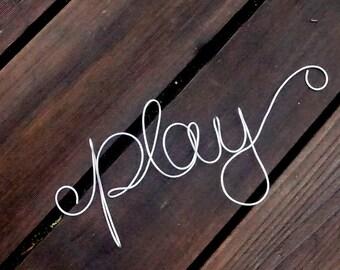 Nursery & Playroom Decor, Play Sign