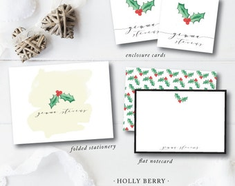 Design Your Own HOLIDAY FOLDED CARDS | Wild Violet Watercolor Designs | Holiday | Darby Cards Collective