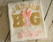 Gold and pink big sister shirt-big sister shirts