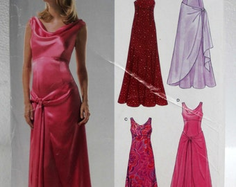 6455 New Look misses floor length formal dress size A 6 8 10 12 14 16 sewing pattern
