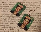 Frida Kahlo earrings mixed media jewelry art jewelry