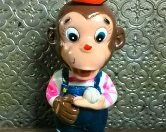 Vintage Wind - up monkey toy