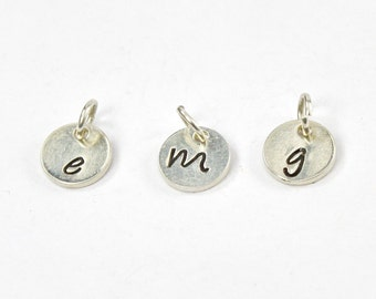 Hand Stamped Sterling Silver Disc Add On