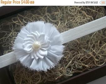CHRISTMAS In JULY SALE Shabby Chic Baby Flower Headband - Small Flower Headband - Baby Photo Prop