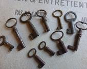 Skeleton Keys Antique French x 10 Circa approx 1900- 1910