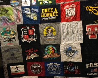 Custom t shirt quilt example