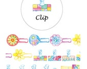 Diary Scrapbook Adhesive Masking Deco Washi Tape - Color Paper Clip (2.5 cm Width)
