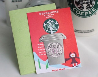 DIY Scrapbook Deco Bookmark Starbucks