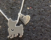West Highland White Terrier Custom Necklace.  Westie. Dog Tag.