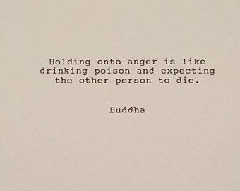Typed Buddha quote