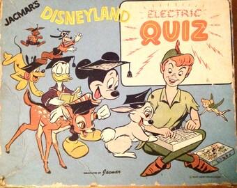 Vintage Disney Disneyland Electric Quiz game Jacmars