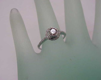 Incredible works of Art, Estate 18K White Gold Old Cut Solitaire .80carats Diamond  Ring