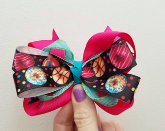 Doughnut bow.  Christmas bow.   Back to school.  Birthday girl. Stocking stuffer. Rts
