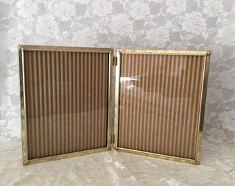 Vintage Metal 8 x 10 double Table Top Picture Frame