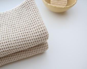"NEW!  100% Organic Waffle Weave Cotton Dish Towel 14X20"" , Tea Towel, ChooseQuantity"