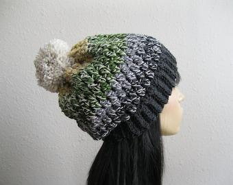 Crochet Beanie - Prism Slouch Hat - Beanie Hat - Crochet Slouchy Beanie - Winter Hats - Beanies - Crochet Beanie Hat - Slouchy Beanie Hat