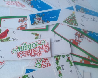 Mixed lot vintage Christmas Gift Tags, Vintage Christmas Gift Wrapping Supplies Lot F