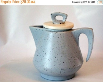 AUGUST SALE Vintage Speckled Ceramic Teapot in Perfect Condition.