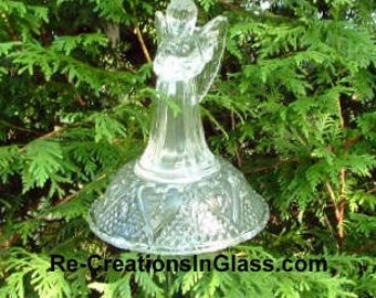 Garden angel. Garden totem. Suncatcher. Singing angel. Memorial gift. Made with upcycled/repurposed crystal and glass.