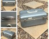 Vintage - 1960s - HALLIBURTON Travel Case / Luggage / Train Case - ZERO HALLIBURTON Carry On