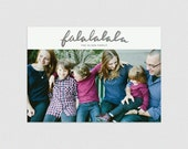 Falalalala  |  Hand lettered minimal holiday photo card